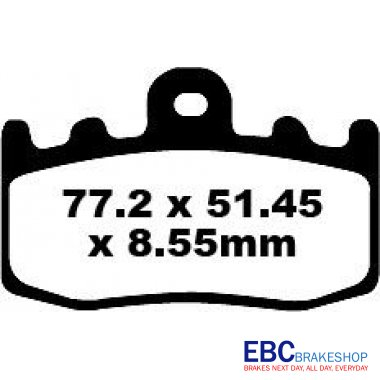 EBC Bike Brakes Extreme Pro Sintered Pad (EPFA335HH)